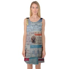 Concert Memorabilia  Sleeveless Satin Nightdress