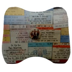 Concert Memorabilia  Velour Head Support Cushion by StarvingArtisan