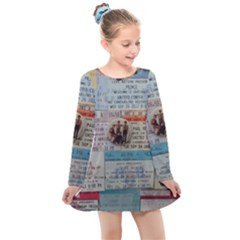 Concert Memorabilia  Kids  Long Sleeve Dress by StarvingArtisan