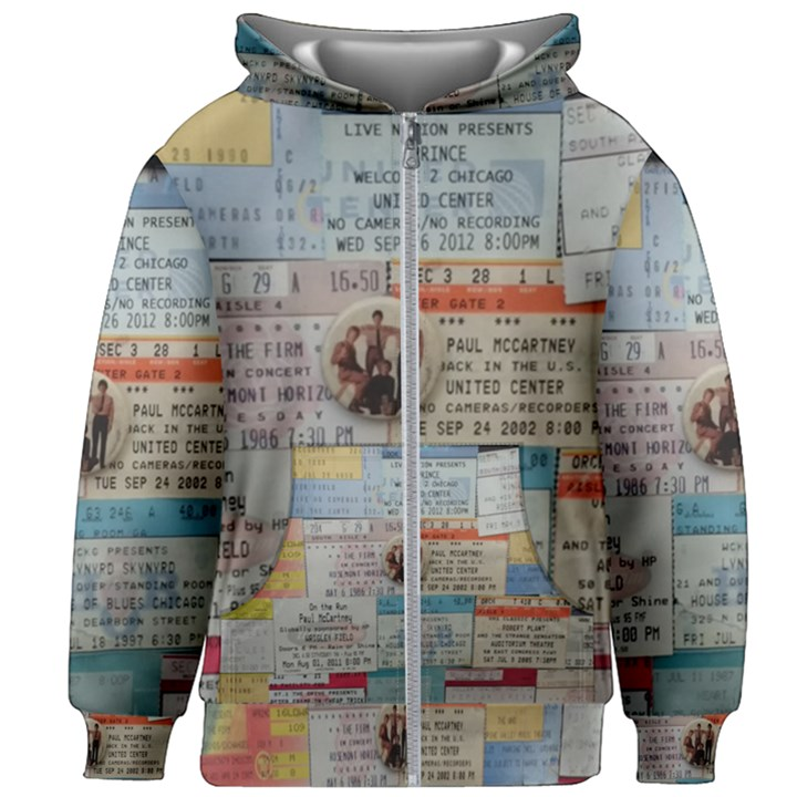 Concert Memorabilia  Kids  Zipper Hoodie Without Drawstring
