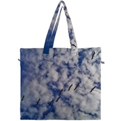 Pelicans In Flight Canvas Travel Bag