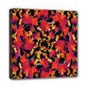 Red Floral Collage Print Design 2 Mini Canvas 8  x 8  (Stretched) View1