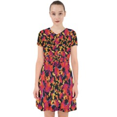 Red Floral Collage Print Design 2 Adorable In Chiffon Dress
