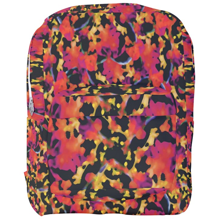 Red Floral Collage Print Design 2 Full Print Backpack