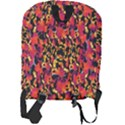 Red Floral Collage Print Design 2 Full Print Backpack View2