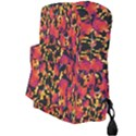 Red Floral Collage Print Design 2 Full Print Backpack View3