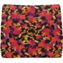 Red Floral Collage Print Design 2 Seat Cushion View1