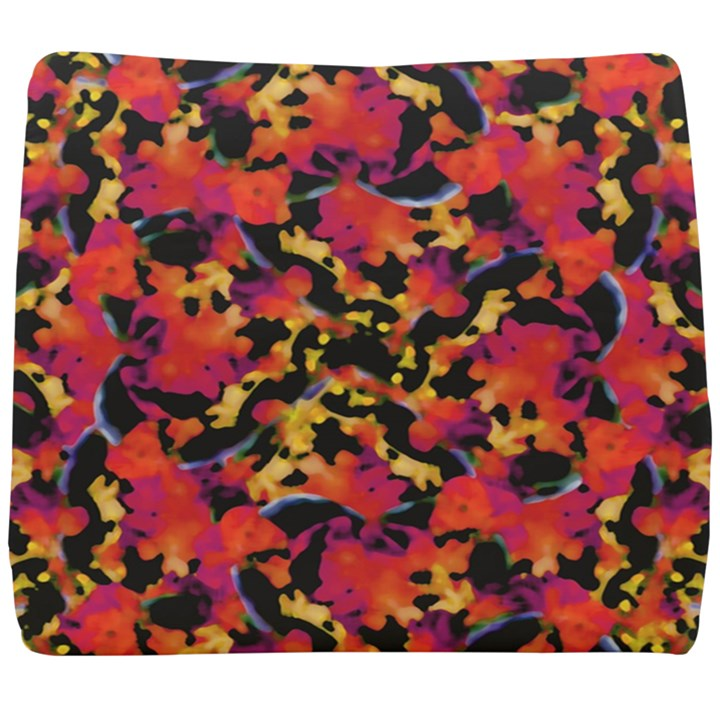 Red Floral Collage Print Design 2 Seat Cushion