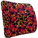 Red Floral Collage Print Design 2 Seat Cushion View2