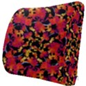 Red Floral Collage Print Design 2 Seat Cushion View3