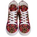 Red Floral Collage Print Design 2 Men s Hi-Top Skate Sneakers View1