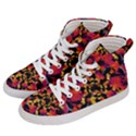 Red Floral Collage Print Design 2 Men s Hi-Top Skate Sneakers View2
