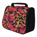 Red Floral Collage Print Design 2 Full Print Travel Pouch (Small) View1
