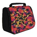 Red Floral Collage Print Design 2 Full Print Travel Pouch (Small) View2