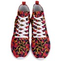Red Floral Collage Print Design 2 Men s Lightweight High Top Sneakers View1