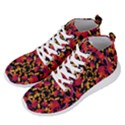 Red Floral Collage Print Design 2 Men s Lightweight High Top Sneakers View2