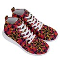 Red Floral Collage Print Design 2 Men s Lightweight High Top Sneakers View3