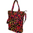 Red Floral Collage Print Design 2 Shoulder Tote Bag View1