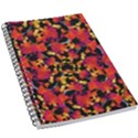 Red Floral Collage Print Design 2 5.5  x 8.5  Notebook View1