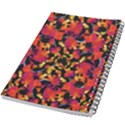 Red Floral Collage Print Design 2 5.5  x 8.5  Notebook View2