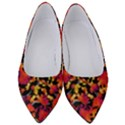 Red Floral Collage Print Design 2 Women s Low Heels View1