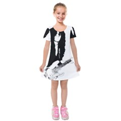 J E L  Kids  Short Sleeve Velvet Dress