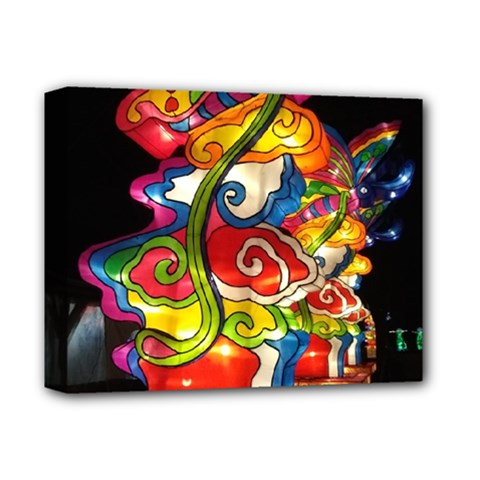 Dragon Lights Centerpiece Deluxe Canvas 14  X 11  (stretched)
