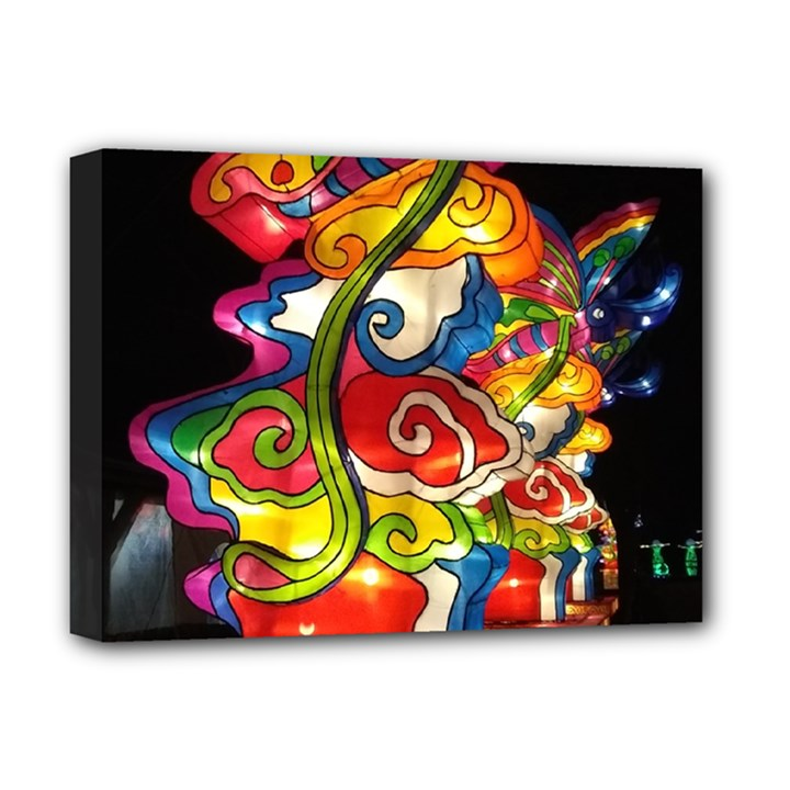 Dragon Lights Centerpiece Deluxe Canvas 16  x 12  (Stretched)
