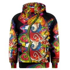 Dragon Lights Centerpiece Men s Pullover Hoodie