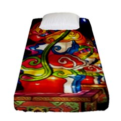 Dragon Lights Centerpiece Fitted Sheet (single Size)