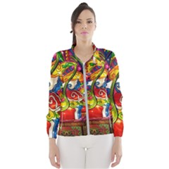 Dragon Lights Centerpiece Windbreaker (women)