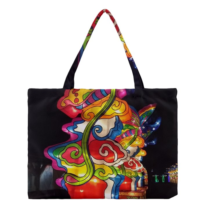 Dragon Lights Centerpiece Medium Tote Bag