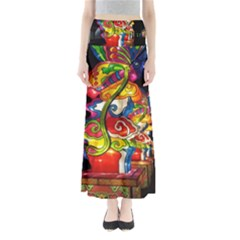 Dragon Lights Centerpiece Full Length Maxi Skirt