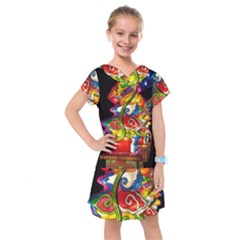 Dragon Lights Centerpiece Kids  Drop Waist Dress