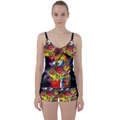 Dragon Lights Centerpiece Tie Front Two Piece Tankini