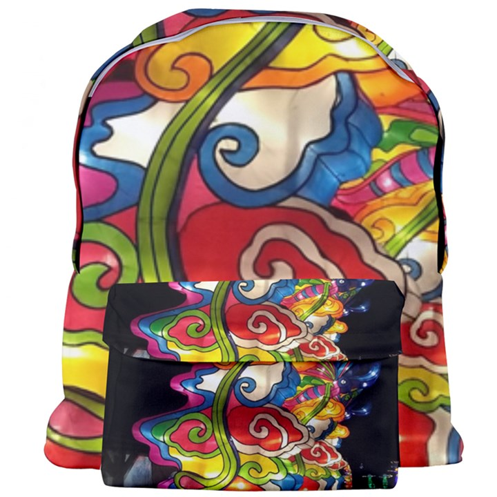 Dragon Lights Centerpiece Giant Full Print Backpack