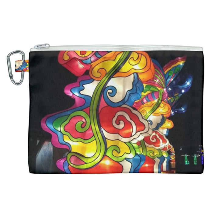 Dragon Lights Centerpiece Canvas Cosmetic Bag (XL)