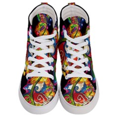 Dragon Lights Centerpiece Women s Hi Top Skate Sneakers
