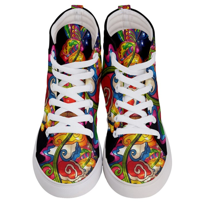Dragon Lights Centerpiece Women s Hi-Top Skate Sneakers