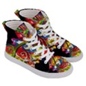 Dragon Lights Centerpiece Women s Hi-Top Skate Sneakers View3