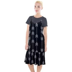 Black And White Abstract Pattern Camis Fishtail Dress by Valentinaart