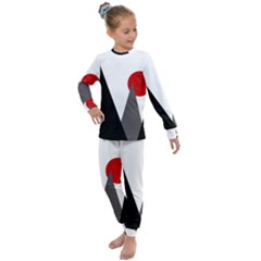 Geometric Landscape Kids  Long Sleeve Set  by Valentinaart