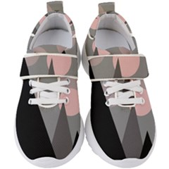 Geometric Landscape Kids  Velcro Strap Shoes