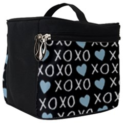 Xo Valentines Day Pattern Make Up Travel Bag (big) by Valentinaart