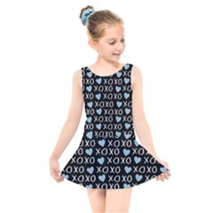Xo Valentines Day Pattern Kids  Skater Dress Swimsuit by Valentinaart