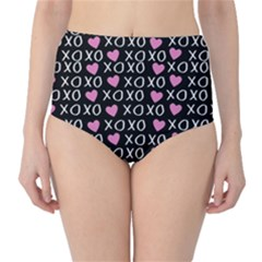Xo Valentines Day Pattern Classic High-waist Bikini Bottoms by Valentinaart