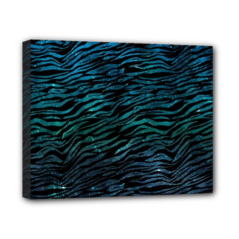 Funny Galaxy Tiger Pattern Canvas 10  X 8  (stretched) by tarastyle