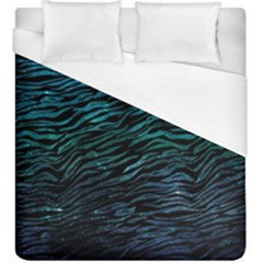 Funny Galaxy Tiger Pattern Duvet Cover (king Size) by tarastyle