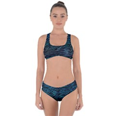 Funny Galaxy Tiger Pattern Criss Cross Bikini Set by tarastyle