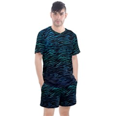 Funny Galaxy Tiger Pattern Men s Mesh Tee And Shorts Set by tarastyle